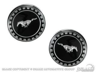 1969 MUSTANG FASTBACK  ROOF ORNAMENT PAIR