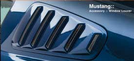 2005-2008 MUSTANG QUARTER WINDOW LOUVERS (PAIR)