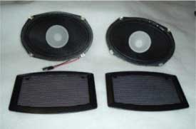 1965-1970 MUSTANG REAR SPEAKER & GRILLE KIT