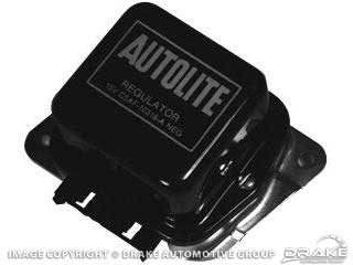 1965-1967 MUSTANG VOLTAGE REGULATOR (BLACK/SILVER)