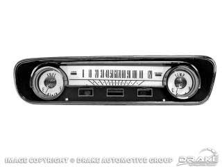 1964-1968 MUSTANG WHITE FACE GAUGE APPLIQUES