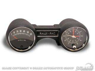 1965 MUSTANG RALLY PAC V8 6000RPM BLACK