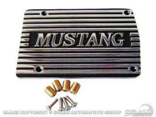 A/C COMPRESSOR COVER MUSTANG  POLISHED
