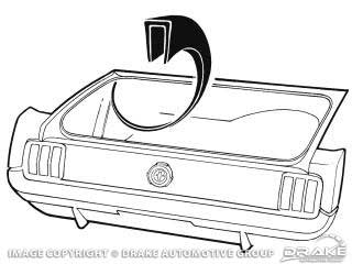 1964-1968 MUSTANG TRUNK WHEEL WELL SEAM COVER