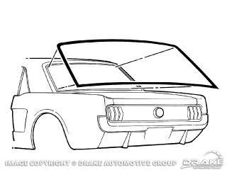 1964-1968 MUSTANG REAR WINDOW SEAL (COUPE)