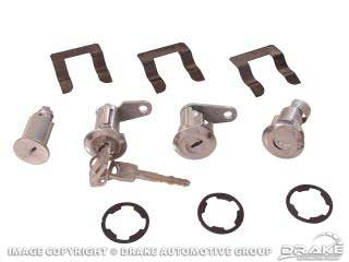 1967-1969 MUSTANG IGNITION/DOOR/TRUNK LOCK SET