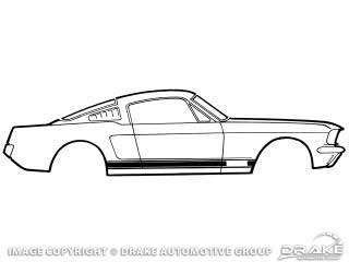 1967 MUSTANG G.T. STRIPE KIT