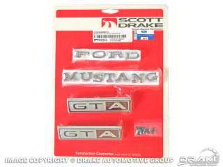 1967 MUSTANG GTA 8CYLINDER ALL BODY EMBLEM KIT