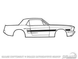1968 MUSTANG GT CALIFORNIA SPECIAL STRIPE KIT