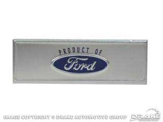 "1968-1973 MUSTANG DOOR SILL TAG ""FORD"""