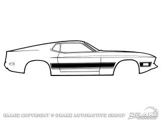 1973 MUSTANG MACH 1 SIDE STRIPES