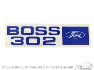 1969-1970 MUSTANG BOSS 302 VALVE COVER DECAL
