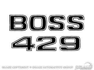 1969-1970 MUSTANG BOSS 429 FENDER DECAL