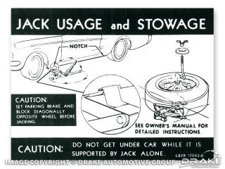 1968-1970 MUSTANG JACK INSTRUCTIONS (STYLED WHEEL)