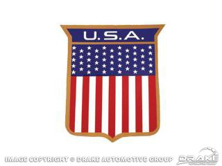 1972 MUSTANG U.S.A. BODY SHIELD DECAL