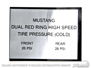 1965-1966 MUSTANG RED RING TIRE PRESS