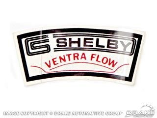 1965-1970 MUSTANG AIR CLEANER DECAL (SHELBY VENTRA-FLOW)