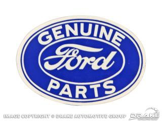 "3"" FORD GENUINE PARTS OVAL DEC"
