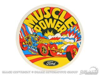 MUSCLE POWER EXTERIOR DECAL