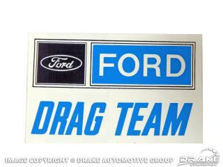 "1964-1973 MUSTANG 8"" FORD DRAG TEAM DECAL"