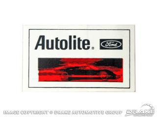"1964-1973 MUSTANG 1/2""X2 1/2"" AUTOLITE DECAL"