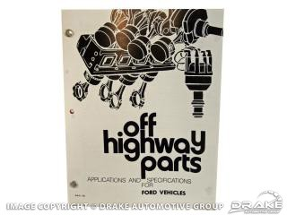 OFF HIGHWAY PARTS BOOK