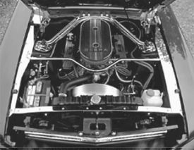 1965-1966 MUSTANG UNDER HOOD STAINLESS TRIM