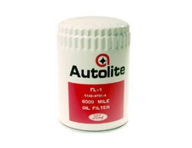 1964-193 MUSTANG WHITE/RED AUTOLITE FILTER (FORD SCRIPT)