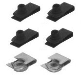 1964-1966 MUSTANG BUMPER GUARD HARDWARE KIT (CLIPS)