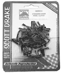 1965-1967 MUSTANG PONY DOOR PANEL CLIP KIT