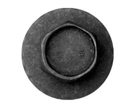 1966-1967 MUSTANG FENDER BOLT DISC BLACK