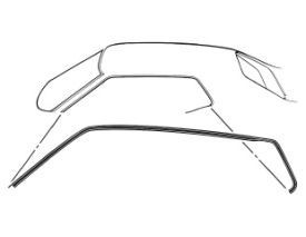 1965-1966 MUSTANG ROOF RAIL SEAL FASTBACK