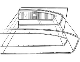 1965-1966 MUSTANG  PONY DOOR PANEL TRIM