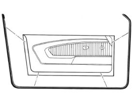 1964-1966 MUSTANG DOOR WEATHER-STRIP