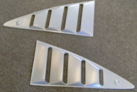 1974-1978 MUSTANG/COBRA II QUARTER WINDOW LOUVERS (PAIR)