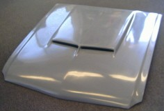 1967 1968 Mustang Hood With 67 Shelby Style Scoop