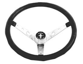 1965-1973 MUSTANG BLACK STEERING WHEEL