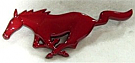 1994-2004 MUSTANG RED RUNNING GRILLE HORSE EMBLEM