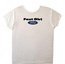 1964-1973 MUSTANG FAST GIRL T-SHIRT LARGE