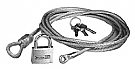 1964-1973 MUSTANG CAR COVER CABLE WITH LOCK