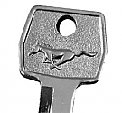 1967-1973 MUSTANG KEY BLANK-IGNITION W HORSE