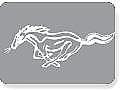 1964-2013 MUSTANG WHITE RUNNING HORSE WINDOW DECAL