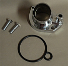 1964-1973 MUSTANG THERMOSTAT HOUSING, CHROME, O-RING STYLE