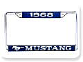 1968 MUSTANG YEAR DATED LICENSE PLATE FRAME     (CLONE) (CLONE)