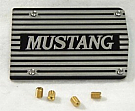 "1964-1973 MUSTANG A/C COMPRESSOR COVER PLATE, ""MUSTANG"" LETTERING"