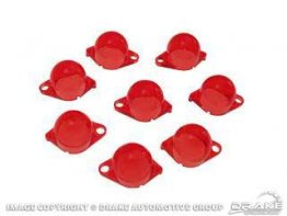 1967-1970 MUSTANG INSTRUMENT PANEL FILTERS, RED