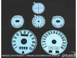 1967-1968 MUSTANG Luminescent Panel Set (6 piece, 8000 RPM Tach)