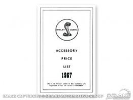 1967-1969 MUSTANG SHELBY NEW CAR ACCESSORY PRICE LIST