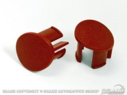 1987-1993 ARMREST PLUGS LH RED