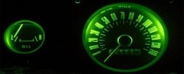 1965-1966 MUSTANG GREEN LED GAUGE KIT (CLON)